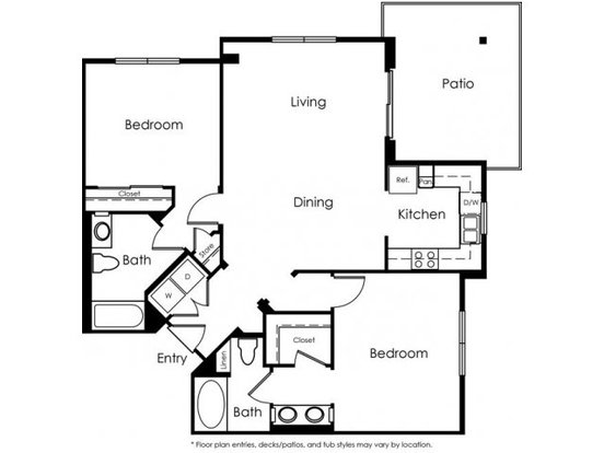 2 Bedrooms 2 Bathrooms Apartment for rent at Gallery421 in Long Beach, CA