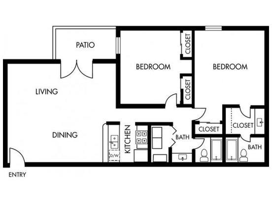 2 Bedrooms 2 Bathrooms Apartment for rent at Jasmine At Marietta Crossing in Marietta, GA