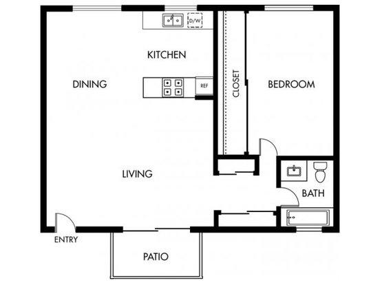 1 Bedroom 1 Bathroom Apartment for rent at Pruneyard West in Campbell, CA