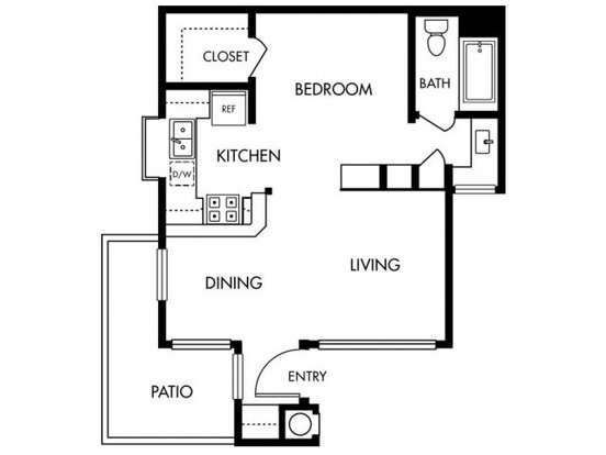 Studio 1 Bathroom Apartment for rent at Stoneridge in Pleasanton, CA