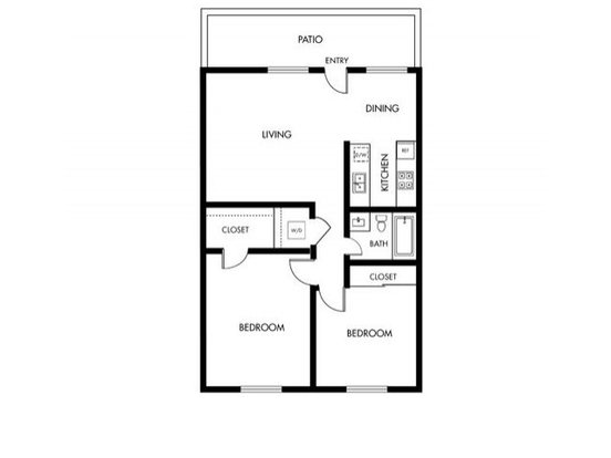 2 Bedrooms 1 Bathroom Apartment for rent at Pebble Creek in Campbell, CA