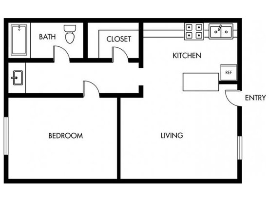 Studio 1 Bathroom Apartment for rent at Orange Grove in Garden Grove, CA