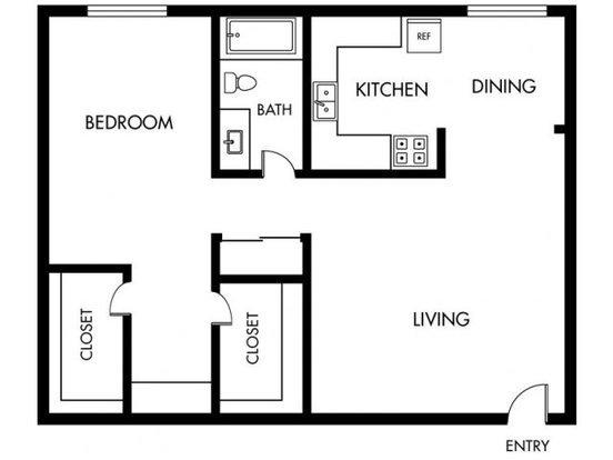 1 Bedroom 1 Bathroom Apartment for rent at Orange Grove in Garden Grove, CA