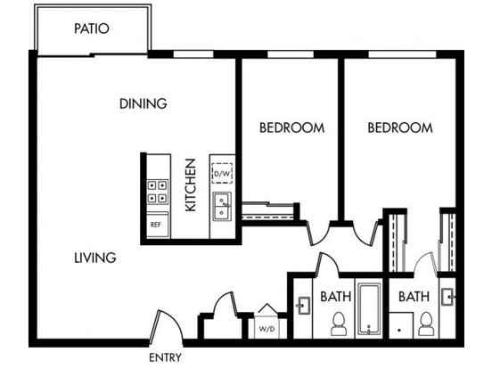 2 Bedrooms 2 Bathrooms Apartment for rent at Maplewood in Mountain View, CA
