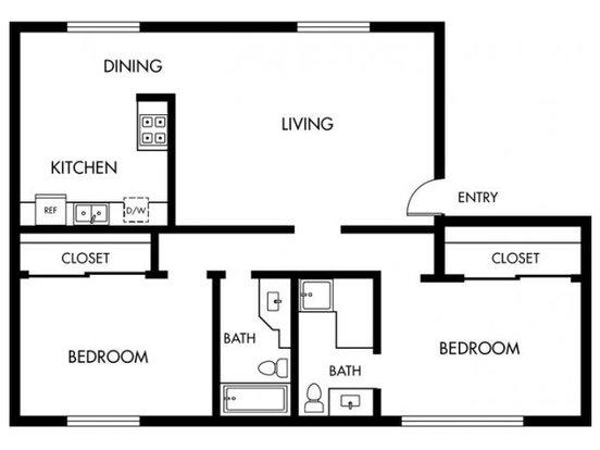 2 Bedrooms 2 Bathrooms Apartment for rent at Orange Grove in Garden Grove, CA