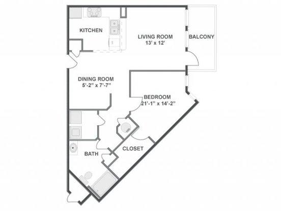 1 Bedroom 1 Bathroom Apartment for rent at The Brooke in Atlanta, GA