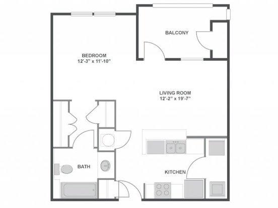 Studio 1 Bathroom Apartment for rent at The Brooke in Atlanta, GA