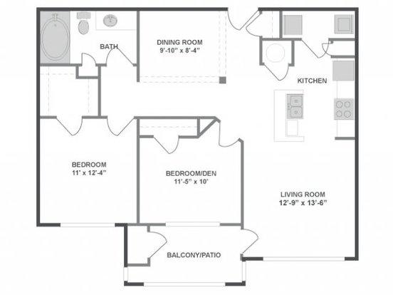 2 Bedrooms 1 Bathroom Apartment for rent at The Brooke in Atlanta, GA