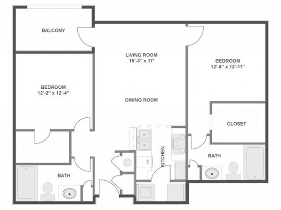2 Bedrooms 2 Bathrooms Apartment for rent at The Brooke in Atlanta, GA