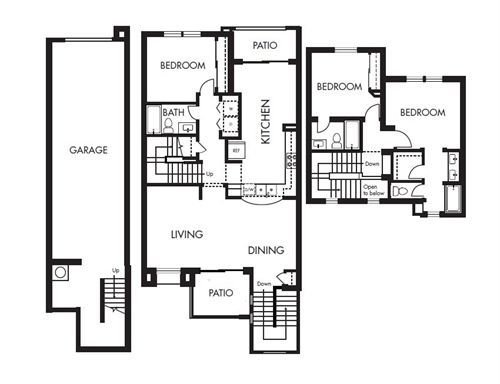 3 Bedrooms 3 Bathrooms Apartment for rent at Levanto in San Diego, CA