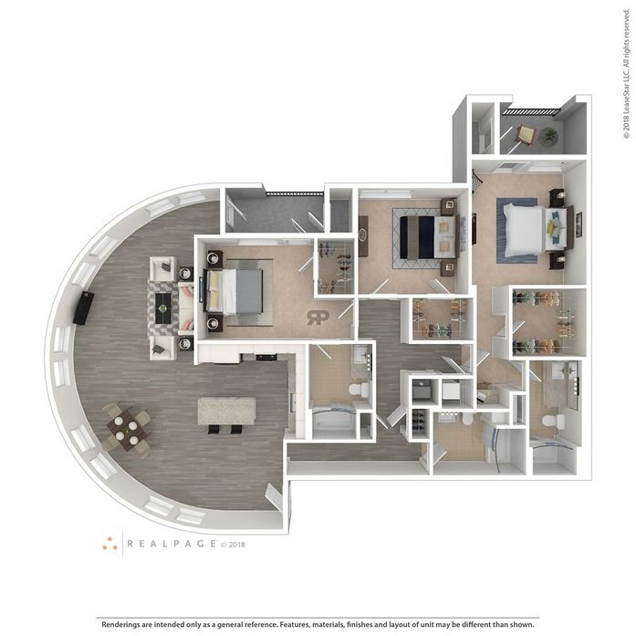 3 Bedrooms 3 Bathrooms Apartment for rent at Turing in Milpitas, CA