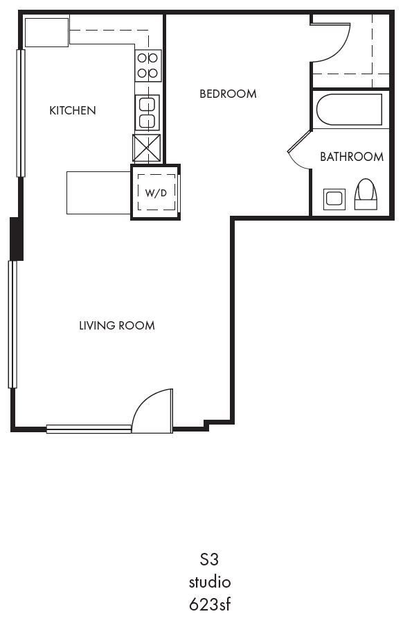 Studio 1 Bathroom Apartment for rent at Palomar Station in San Marcos, CA
