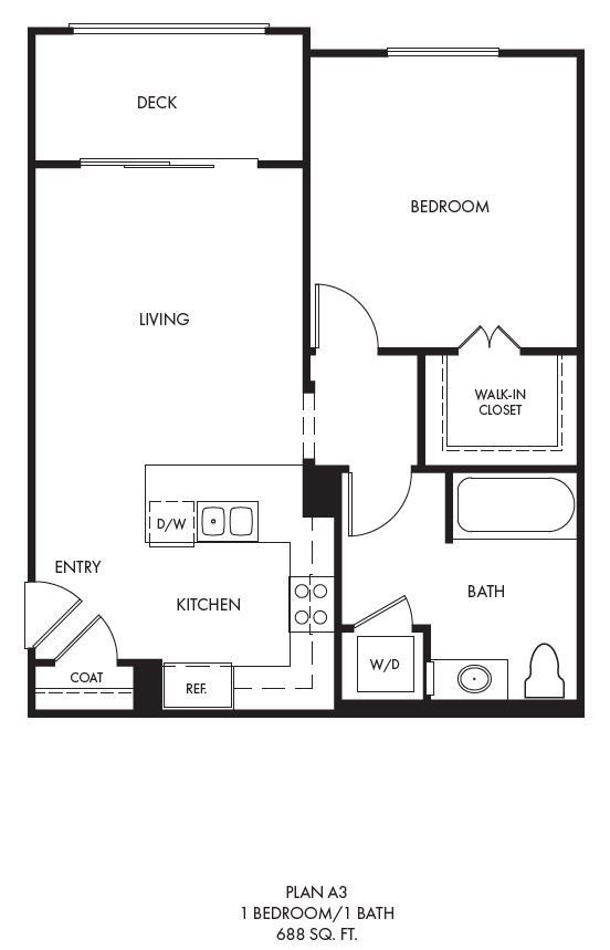 1 Bedroom 1 Bathroom Apartment for rent at Palomar Station in San Marcos, CA