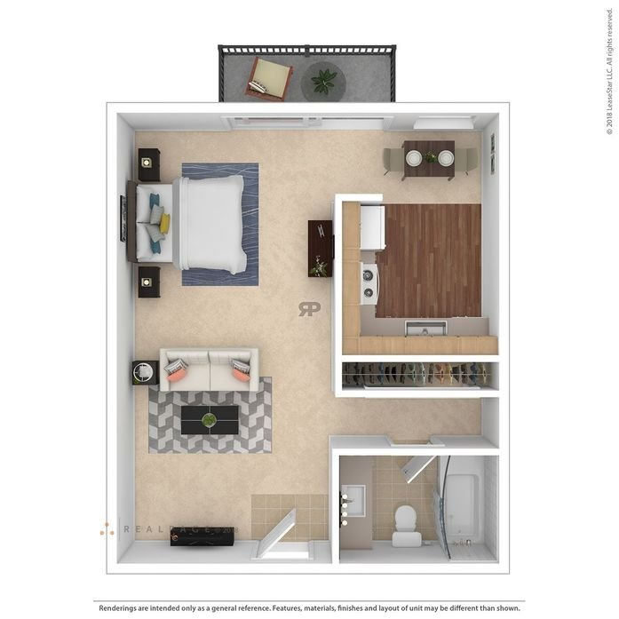 Studio 1 Bathroom Apartment for rent at Maplewood in Mountain View, CA