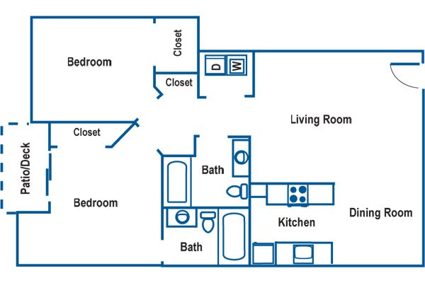 2 Bedrooms 1 Bathroom Apartment for rent at Mountain View At Rivergreen in Corvallis, OR