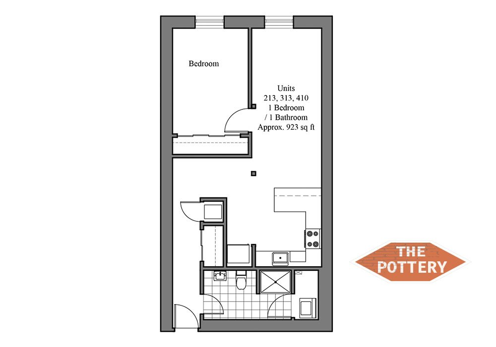 1 Bedroom 1 Bathroom Apartment for rent at The Pottery in Philadelphia, PA