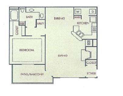Studio 1 Bathroom Apartment for rent at The Mill At Chastain in Kennesaw, GA