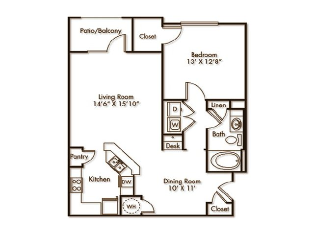 1 Bedroom 1 Bathroom Apartment for rent at Villas At Hampton in Hampton, GA