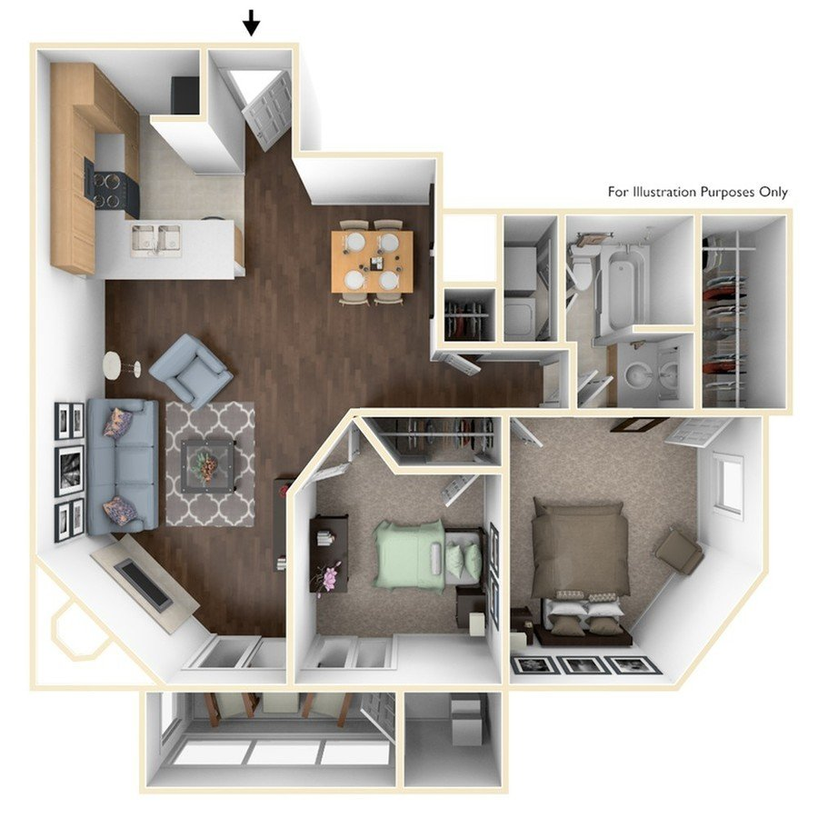 2 Bedrooms 1 Bathroom Apartment for rent at The Reserve At West Paces in Atlanta, GA