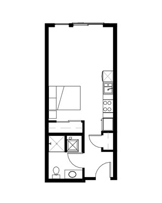 Studio 1 Bathroom Apartment for rent at Prexy in Seattle, WA