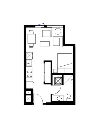1 Bedroom 1 Bathroom Apartment for rent at Prexy in Seattle, WA