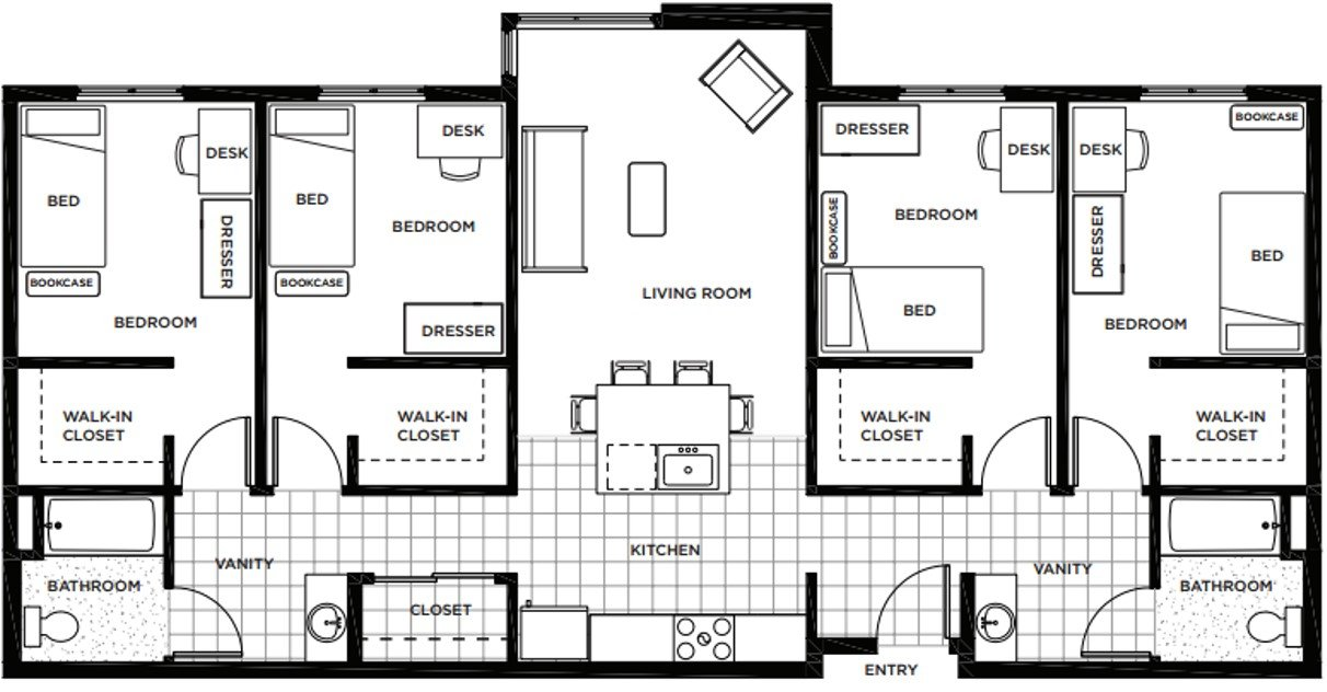 4 Bedrooms 2 Bathrooms Apartment for rent at Rainier Place in Lynwood, WA