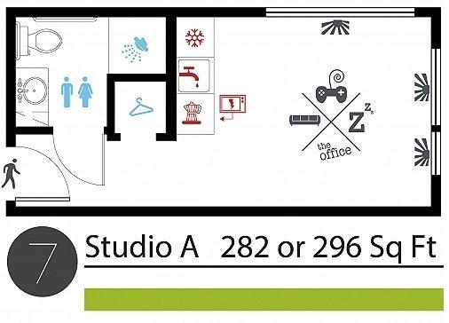 Studio 1 Bathroom Apartment for rent at Studio 7 Apartments in Seattle, WA