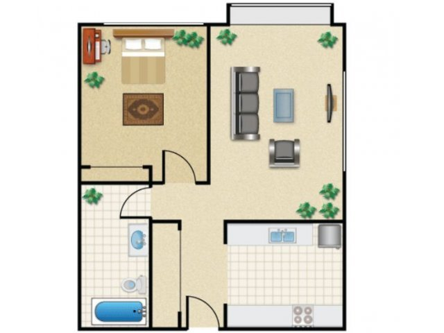 1 Bedroom 1 Bathroom Apartment for rent at Campus View in Seattle, WA