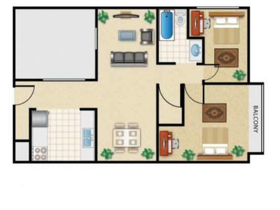 2 Bedrooms 1 Bathroom Apartment for rent at Campus View in Seattle, WA