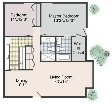 2 Bedrooms 2 Bathrooms Apartment for rent at Jean Rivard Apartments in Detroit, MI