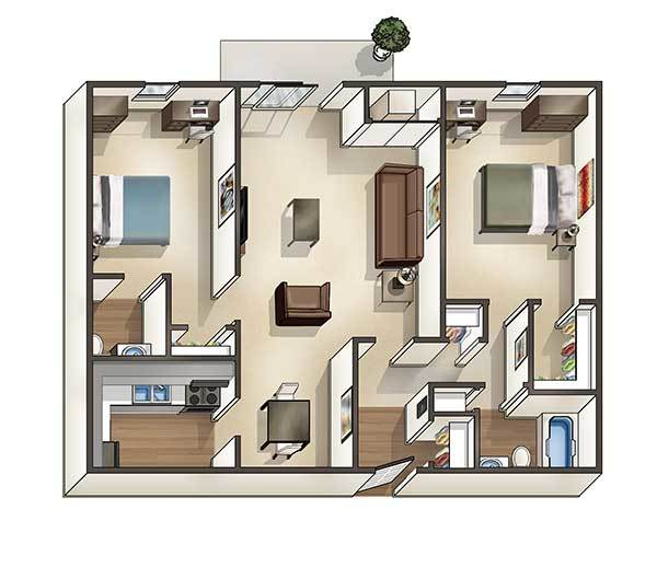 2 Bedrooms 1 Bathroom Apartment for rent at University Hills in Toledo, OH