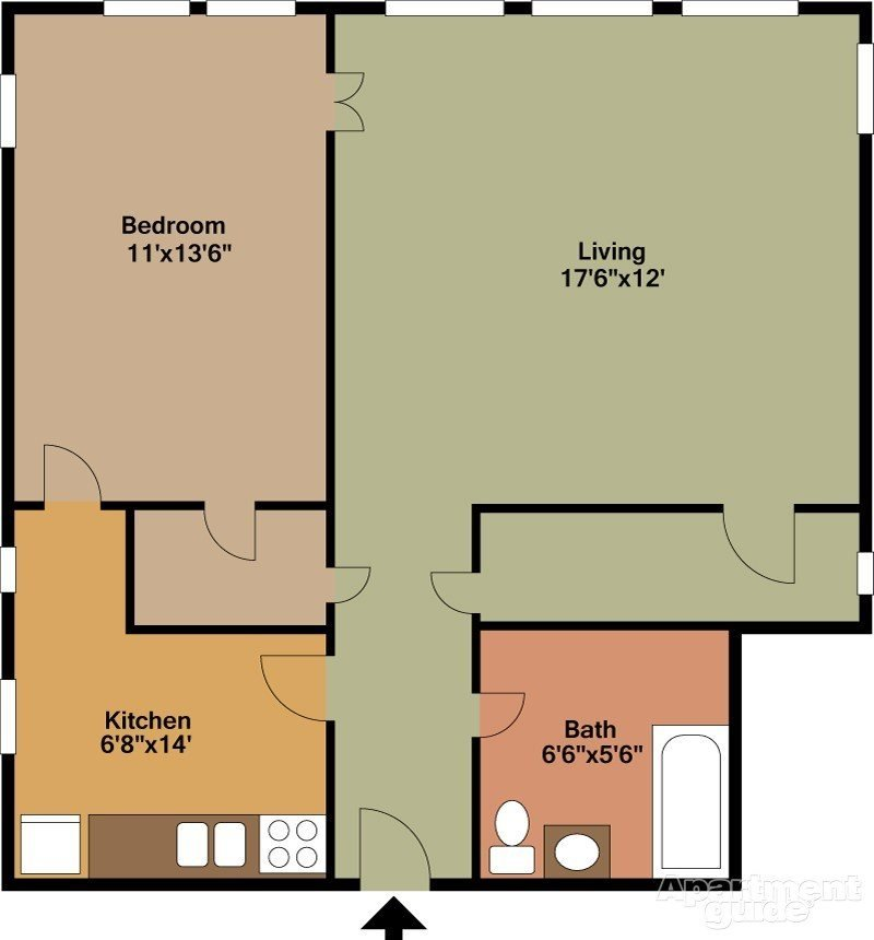 1 Bedroom 1 Bathroom Apartment for rent at Malloy Apartments in Seattle, WA