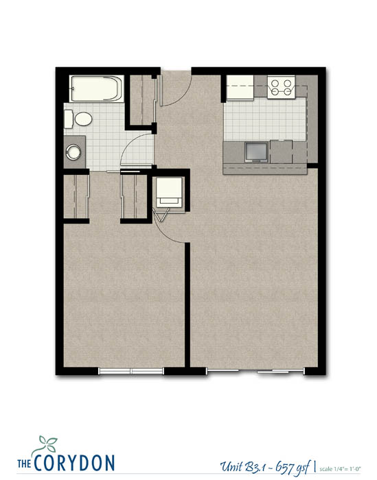 1 Bedroom 1 Bathroom Apartment for rent at The Corydon in Seattle, WA
