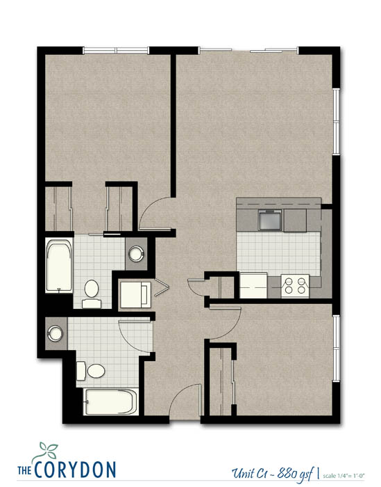 2 Bedrooms 2 Bathrooms Apartment for rent at The Corydon in Seattle, WA
