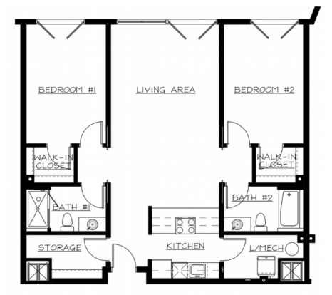 2 Bedrooms 2 Bathrooms Apartment for rent at The Flats At Southside Works in Pittsburgh, PA