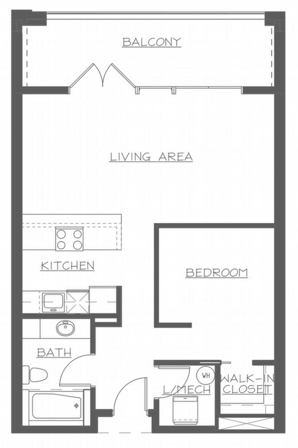 1 Bedroom 1 Bathroom Apartment for rent at The Flats At Southside Works in Pittsburgh, PA