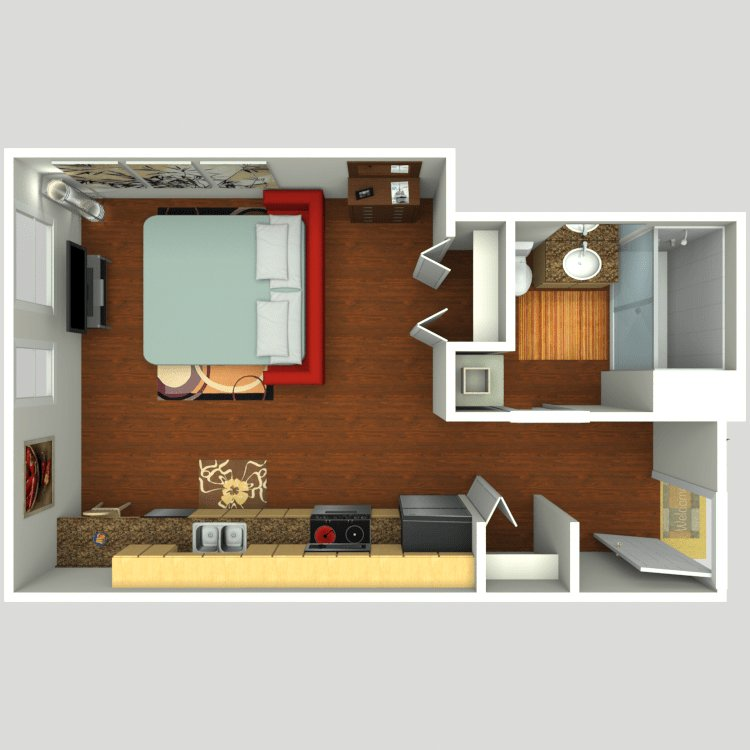 Studio 1 Bathroom Apartment for rent at Verve Flats in Seattle, WA