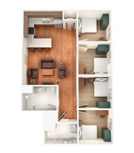 4 Bedrooms 2 Bathrooms Apartment for rent at Sterling Campus Center Apartments in Charleston, SC