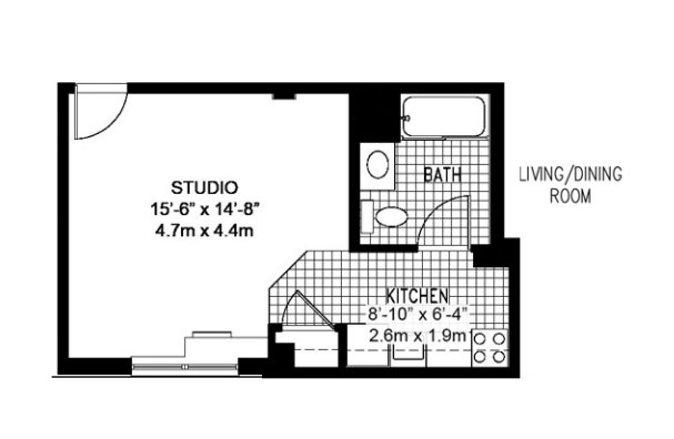 Studio 1 Bathroom Apartment for rent at Collegetown Crossing in Ithaca, NY