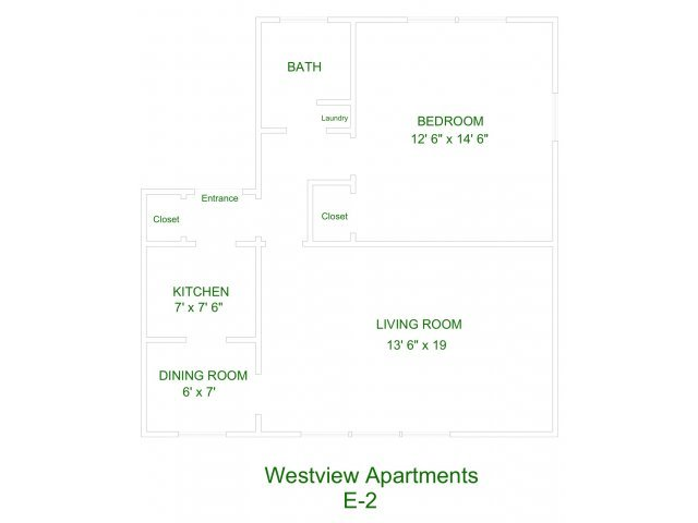 1 Bedroom 1 Bathroom Apartment for rent at Westview in Ithaca, NY
