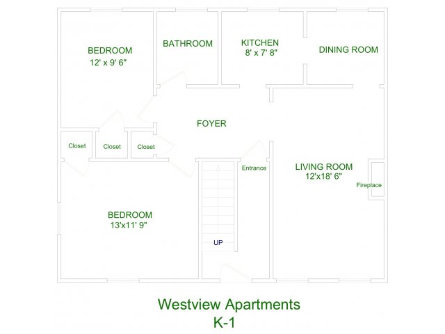 2 Bedrooms 1 Bathroom Apartment for rent at Westview in Ithaca, NY