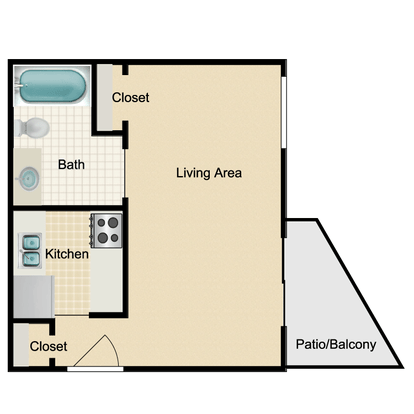 Studio 1 Bathroom Apartment for rent at Brendon Park in Knoxville, TN
