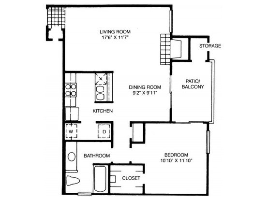 1 Bedroom 1 Bathroom Apartment for rent at High Oaks Apartment Homes in Austin, TX
