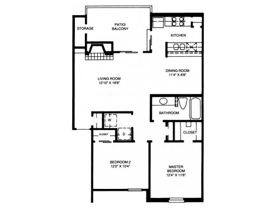2 Bedrooms 1 Bathroom Apartment for rent at High Oaks Apartment Homes in Austin, TX
