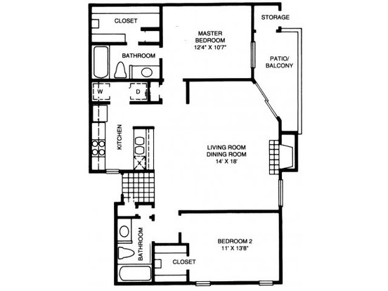 2 Bedrooms 2 Bathrooms Apartment for rent at High Oaks Apartment Homes in Austin, TX