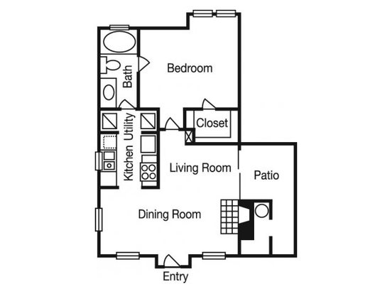 1 Bedroom 1 Bathroom Apartment for rent at Madison At The Arboretum in Austin, TX