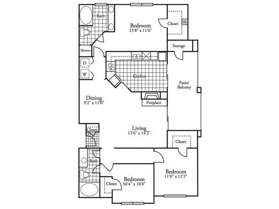 3 Bedrooms 2 Bathrooms Apartment for rent at Madison At Walnut Creek in Austin, TX