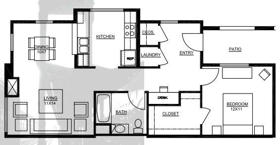 1 Bedroom 1 Bathroom Apartment for rent at Fruitdale Station in San Jose, CA