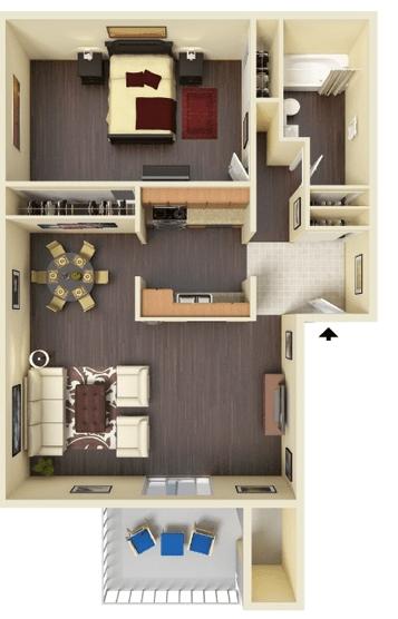 1 Bedroom 1 Bathroom Apartment for rent at Hidden Lake Apartments in Santa Clara, CA