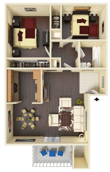 2 Bedrooms 1 Bathroom Apartment for rent at Hidden Lake Apartments in Santa Clara, CA